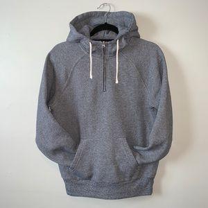 J Crew Vintage Fleece 1/4 zip hoodie